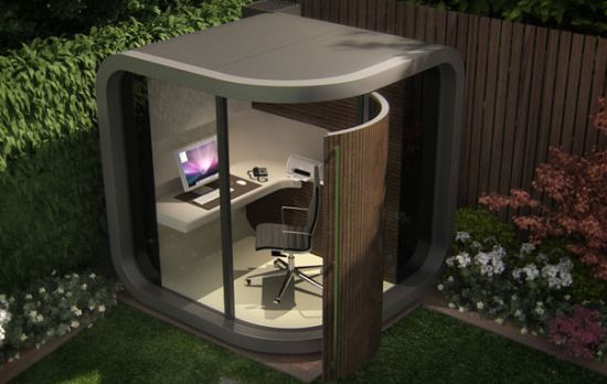 6 unique home offices that will inspire you to start your for Outdoor pod room