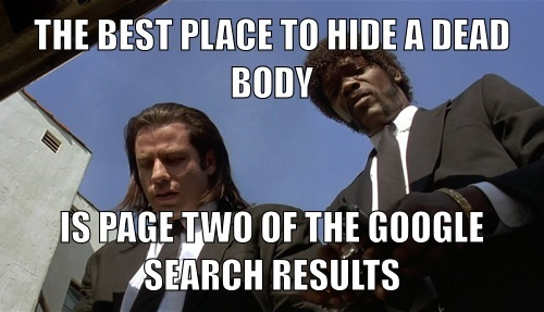 The Best Place to Hide a Body is Page Two of Google