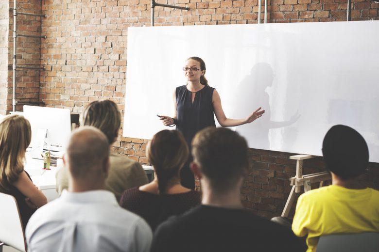 Business Team Training Listening Meeting Concept