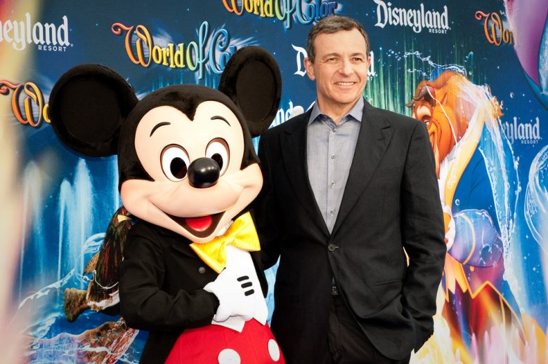 Mickey Mouse and CEO and chairman of The Walt Disney Company Bob Iger